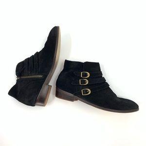 Anthropologie Latigo Ankle Boots Suede Booties 8